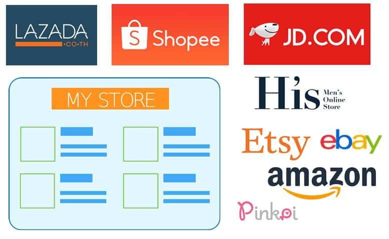 ช่องทางการจำหน่าย e-market place