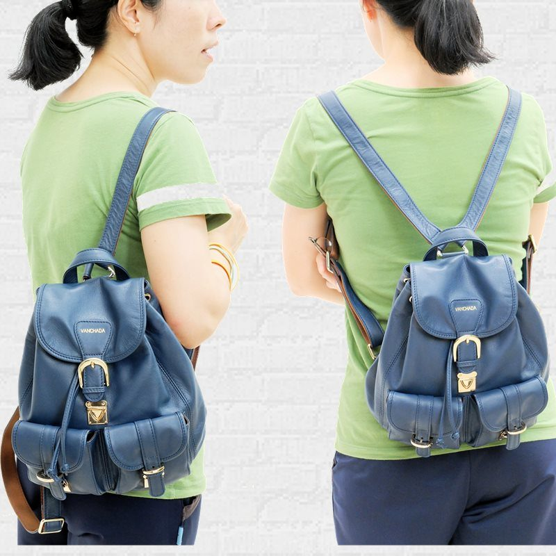 backpack blue color