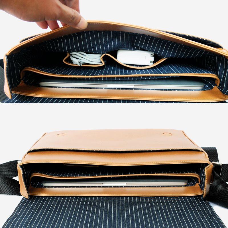 inside bag messenger macbook