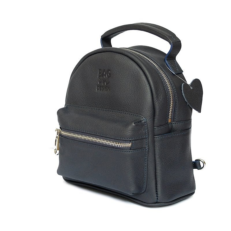backpack blue leather