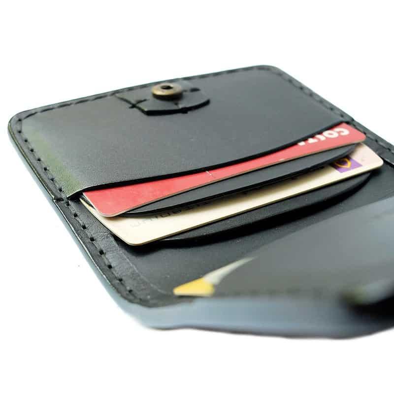 Wallet black formen