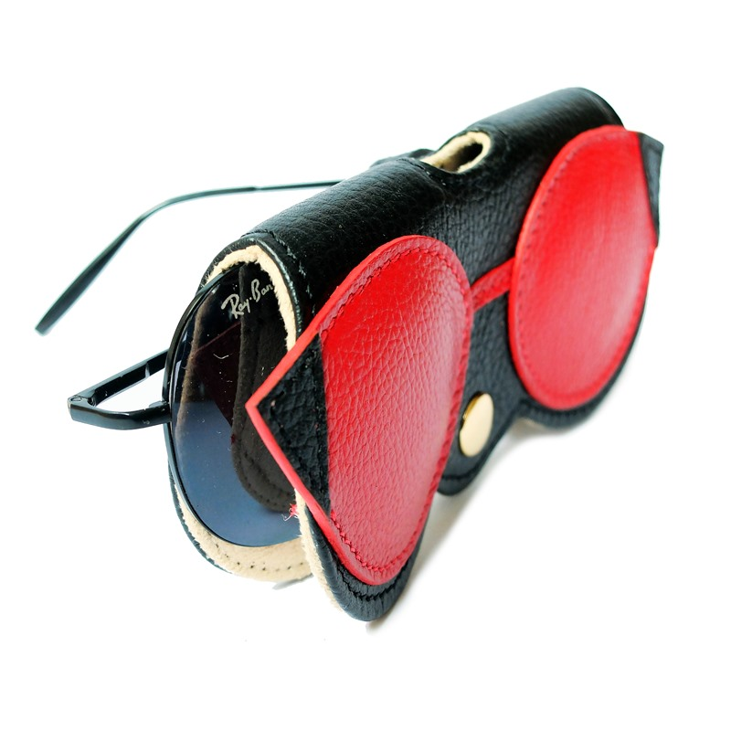 red color Case for sunglasse