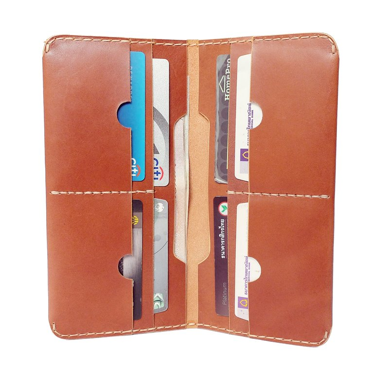 long wallet smart leather